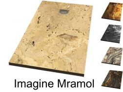 Shower tray, decorated with a personalized image - IMAGINE MARMOL