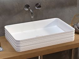 Washbasin 670 x 380 mm, in decorated ceramic - TEIDE