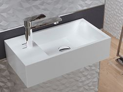 Hand wash basin, 220 x 410 mm, ceramic, suspended - NUMER I.