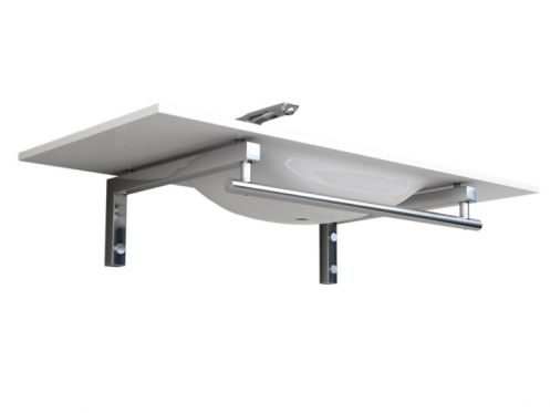 Mounting bracket, for wall-hung washbasin, with towel rail - HUESCA