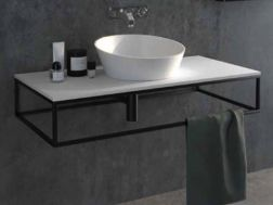 Black mounting bracket, suspended, for vanity top, ATELIER style - CORFU
