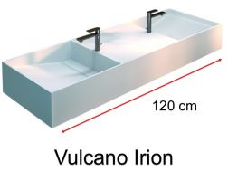 Double washbasin, gutter, in mineral resin Solid Surface type Corian - VULCANO IRION