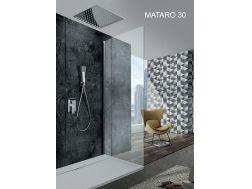 Built-in shower, built-in mixer and ceiling light 30 x 30 cm, rain effect - MATARO 30