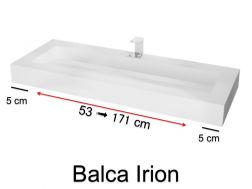 Washbasin top, 50 x 120 cm, Solid Surface type Corian - BALCA IRION