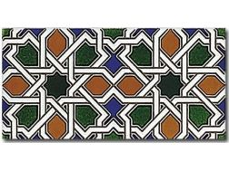NERJA 14x28 cm - wall tile, in the Oriental style.