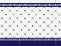 CUARTEO AZUL 20x20 cm - wall tile, in the Oriental style.