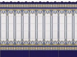 MALLORCA 20x20 cm - wall tile, in the Oriental style.
