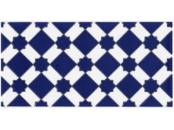 M 13 AZUL 15x20 cm - wall tile, in the Oriental style.