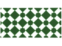 M 13 VERDE 15x20 cm - wall tile, in the Oriental style.