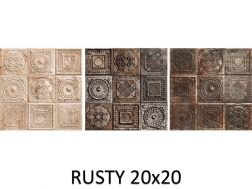 RUSTY 20x20 cm - wall tile, Andalusian style.
