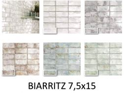 BIARRITZ 7,5x15 cm - wall tile, Andalusian style.