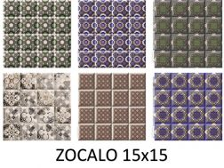 ZOCALO 15x15 cm- wall tile, in the Oriental style.