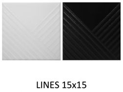 LINES 15x15 - 3D wall relief tile