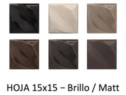 HOJA 15x15 - 3D wall relief tile