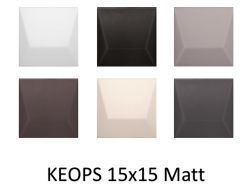 KEOPS 15x15 - 3D wall relief tile
