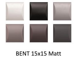 BENT 15x15 - 3D wall relief tile