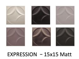 EXPRESSION 20x20 - 3D wall relief tile