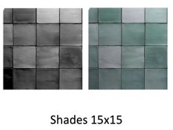 Shades 15x15 cm - Wall tile, Moroccan style Zellig.