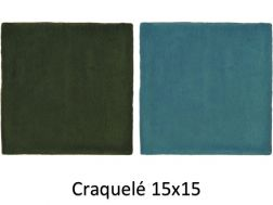 Craquele 15x15 cm - Wall tile, Moroccan style Zellig.