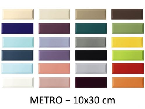 METRO 10x30 cm - Wall tiles, metro type