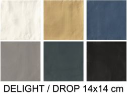DELIGHT / DROP 14x14 cm - Floor and wall tiles, zellige style, contemporary