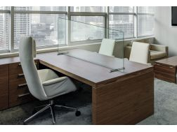 Protections for glass desks.