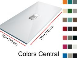 Shower tray, smooth finish - COLORS CENTRAL