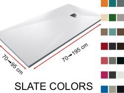 Shower tray, slate finish, choice of colors - SLATE COLORS