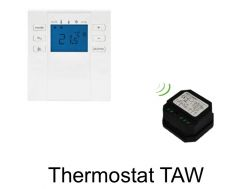Digital thermostat with radio receiver for electric towel dryer - TAW