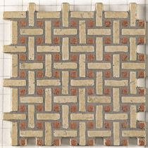 Dimarrni TRACCIA BEIGE ROSSO - earthenware tiles, the Oriental style, Moorish or zellig
