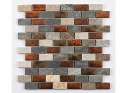 LIERRE - 30 x 30 cm - Glass and stone mosaic