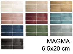 MAGMA 6,5x20 cm - Wall tiles, contemporary zellige style