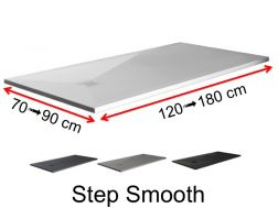 Shower tray, Solid Surface colors, smooth finish - STEP SMOOTH