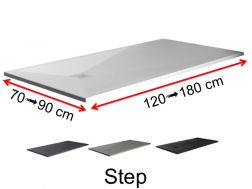 Shower tray, Solid Surface of colors, stair design - STEP