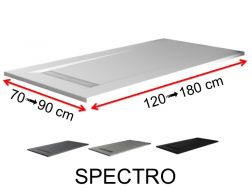 Channel shower tray, Solid Surface colors, smooth finish - SPECTRO