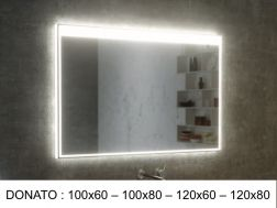 Mirror, with LED lighting - DONATO
