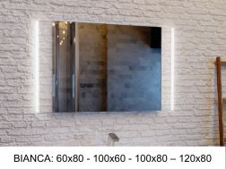 Mirror, with LED lighting - BIANCA