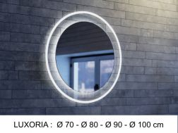 Mirror, with LED lighting - LUXORIA