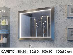 Mirror, with LED lighting - CARETO
