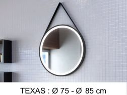 Mirror, with LED lighting - TEXAS
