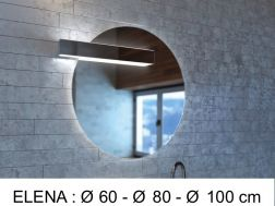 Mirror, with LED lighting - ELENA
