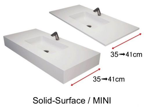 Small washbasin, 50 x 40 cm, in Solid Surface - MINI