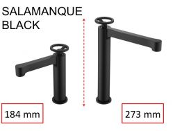 Black tap, mixer, height 184 and 273 mm - SALAMANQUE BLACK