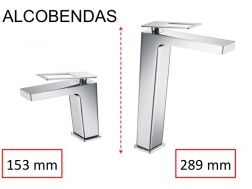Design Washbasin tap, mixer, height 153 and 289 mm - ALCOBENDAS