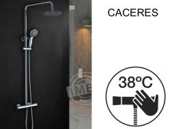 Shower column, thermostatic - CACERES CHROME