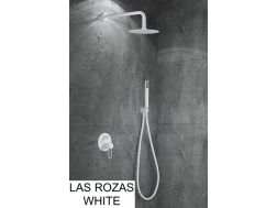 Built-in shower, mixer, round rain cover Ø 25 cm - LAS ROZAS WHITE