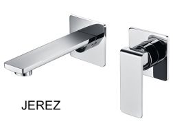 Recessed wall-mounted faucet, single lever, length 215 mm - JEREZ CHROME