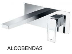 Recessed wall-mounted faucet, single lever, length 212 mm - ALCOBENDAS CHROME