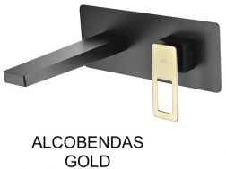 Recessed wall-mounted faucet, single lever, length 212 mm - ALCOBENDAS GOLD