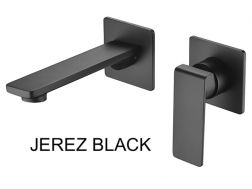 Recessed wall-mounted faucet, single lever, length 215 mm - JEREZ BLACK